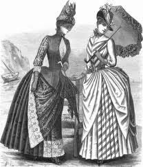 Victorian bustle dresses