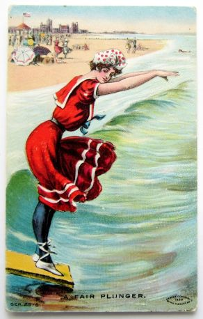 """A Fair Plunger"" http://www.ebay.com/itm/BATHING-BEAUTY-in-Red-Dives-A-Fair-Plunger-Postcard-EMB-/231135133368?pt=LH_DefaultDomain_0&hash=item35d0ba3eb8"