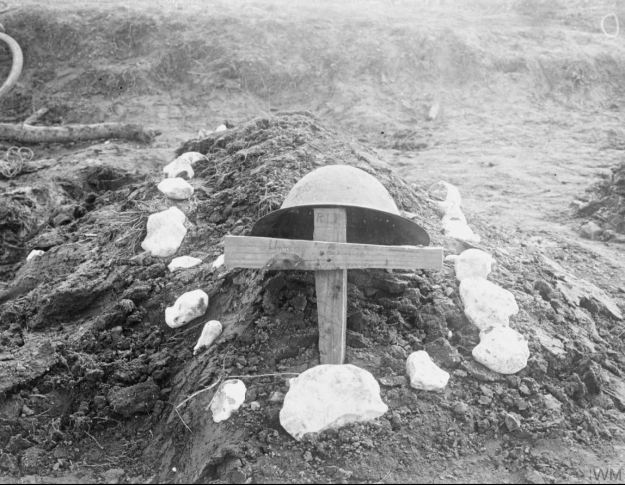 grave of an unknown Canadian soldier, Somme battlefield October 1916