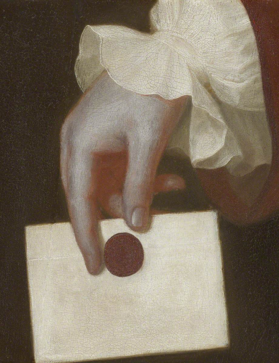 Romney, George, 1734-1802; A Hand Holding a Letter
