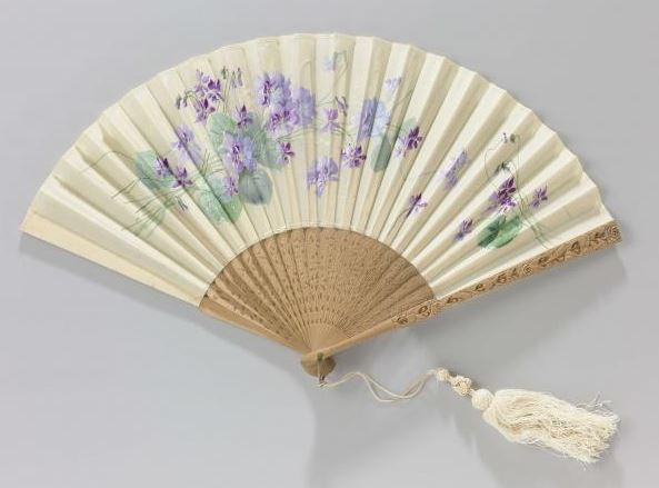 hand painted violet fan