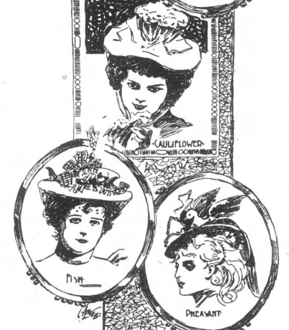 cauliflower fish and pheasant hats